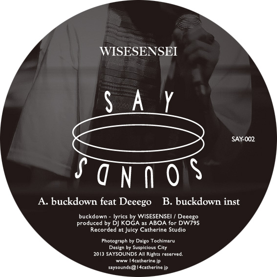 WISESENSEI / buckdown feat Deeego 12INCH June 2013 OUT